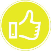 yellow thumbs up